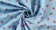 Baumwollstoff Folk Mini Blossom hellblau